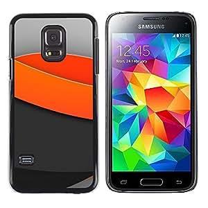 TopCaseStore / la caja del caucho duro de la cubierta de protección de la piel - Minimal light waves - Samsung Galaxy S5 Mini, SM-G800, NOT S5 REGULAR!