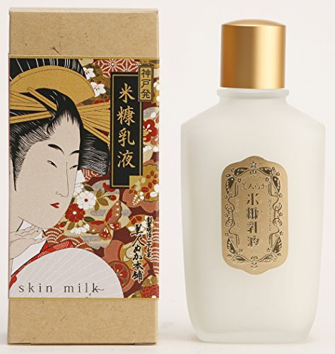 100 year make up cosmetics Rice Bran Skin Milk 100mL(ukiyoe package) Made in Japan by Real corporation