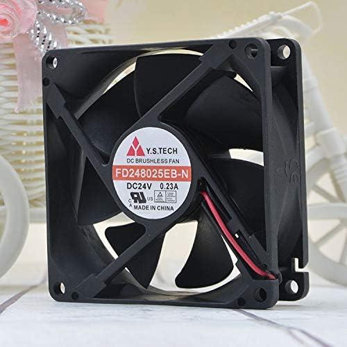 for Y.S.TECH FD248025EB-N 8cm 24V 0.23A 8025 5.52W Elevator Inverter Fan
