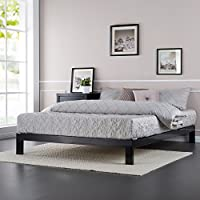 Zinus Modern Studio 10 Inch Platform 2000 Metal Bed Frame, Mattress Foundation, no Boxspring needed, Wooden Slat Support, Good Design Award Winner, King