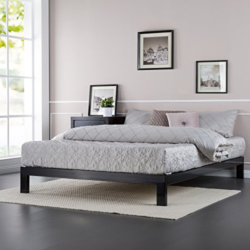 Zinus Modern Studio 10 Inch Platform 2000 Metal Bed Frame, Mattress Foundation, no Boxspring needed, Wooden Slat Support, Good Design Award Winner, Queen