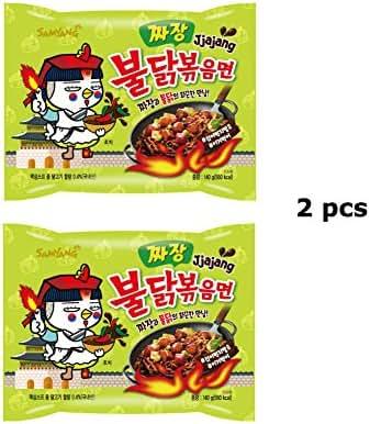 2pcs Samyang Jjajang Buldak Spicy Black Bean Roasted Chicken Ramen Noodle