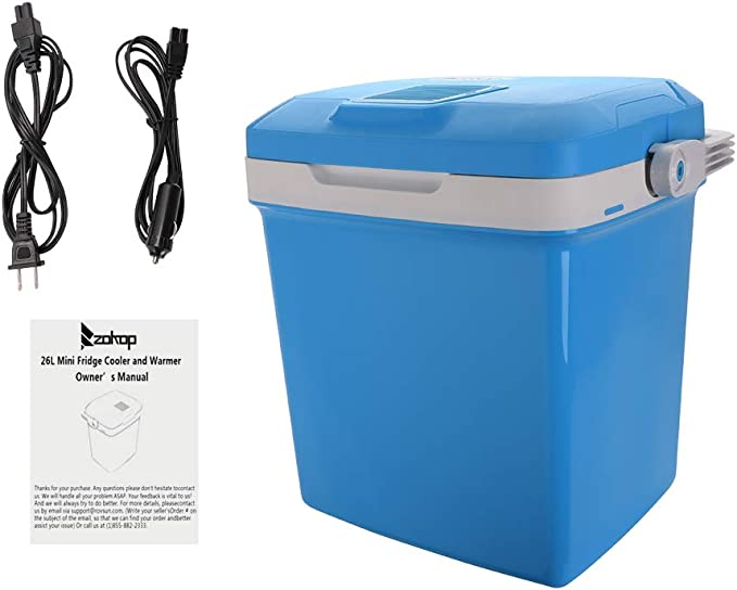Extra Long Cables Dual 120V AC House//DC 12V Vehicle Plugs Remontee Electric Drink Cooler and Warmer 26L//0.92Cuft Portable Fridge Thermoelectric System for Car and Home