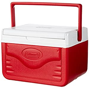 Coleman FlipLid Cooler, 5 Quart , Red