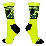 Hockey Player Crew Socks (Neon