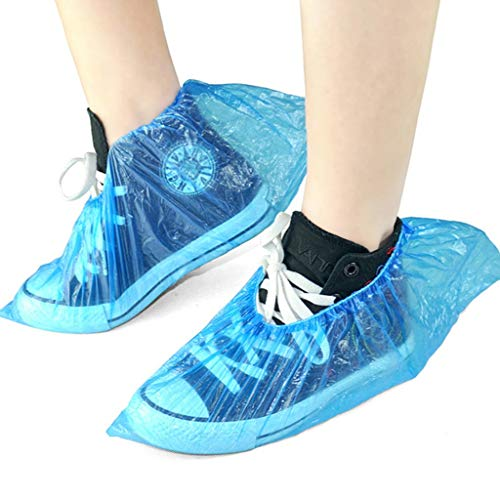 GZZ Disposable Slippers White 3000 Disposable Shoe Covers Thickening Home Machine Room Dustproof Anti-Dirty Odor Foot Cover Shoe Cover 30 Pack Outdoor Waterproof Rain Shoe Cover (Color : Blue) by GZZ (Image #2)
