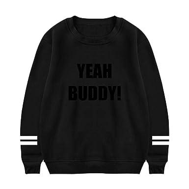 2631f8488 UeMuah Mens Yeah Buddy Long Sleeve Crewneck Sweatshirt Cotton ...