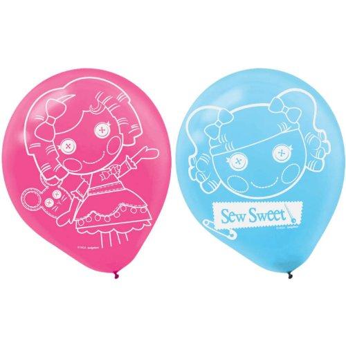 Adorable Lalaloopsy Printed Latex Balloons Birthday Party Decorations (6 Pack), Pink/Blue, -