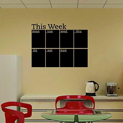 (Fashion Designed Removed Vinyl Weekly Calendar Blackboard Sticker Working Calendar Studying Calendar Vinyl Blackboard Wall Sticker)