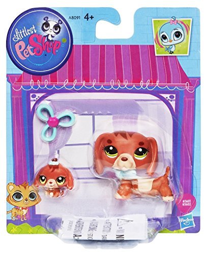 Hasbro Littlest Pet Shop LPS Dachshund Dog & Baby - Littlest And Mommy Baby Shop
