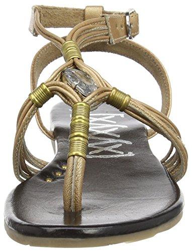 Sandal xyxyx de Tobillo Oro Negro Sandalias Mujer 71Aw1dRq