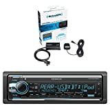 Kenwood In-Dash Detachable Face AM/FM/CD/MP3 Car Stereo Receiver with Bluetooth and Sirius Vehicle Satellite Radio Tuner