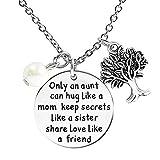 ALoveSoul Only An Aunt Can Hug Like A Mom Keep Secrets Like A Sister Share Love Like A Friend Necklace