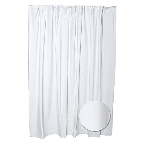 Vinyl White Heavy Duty Shower Curtain Liner With Bonus 12 Free Hooks