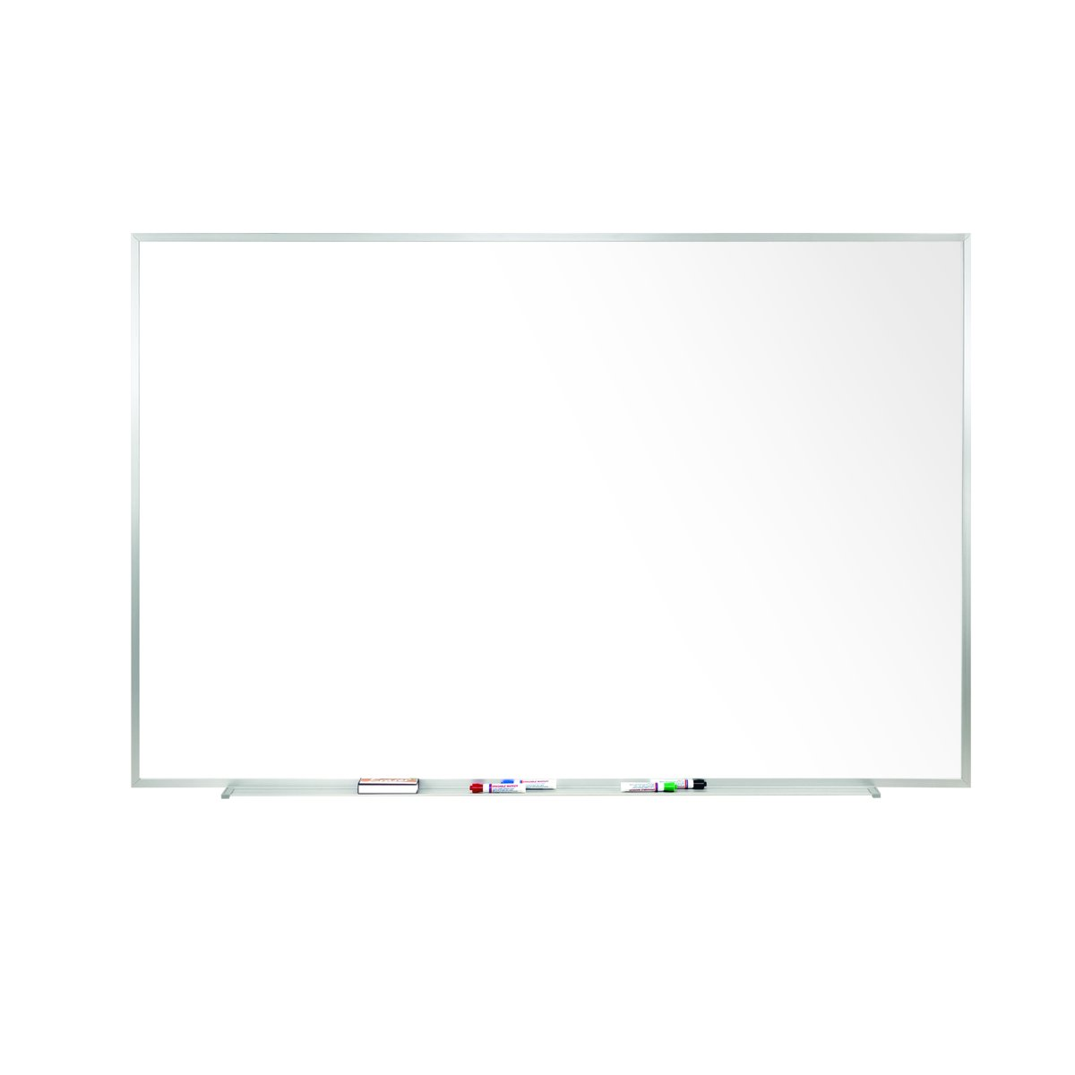 Ghent 48.5'' x 144.5''  Aluminum Frame Porcelain Magnetic Whiteboard w/ 1 Marker and  Eraser - Made in U.S.A.