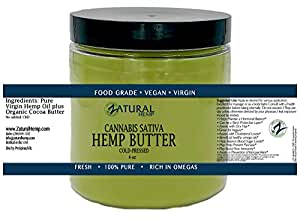 Cannabis Sativa_HEMP BUTTER   100% pure  organic   raw   handcrafted   vegan (1 8oz)