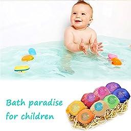 BMK Bath Bombs Gift Set Handmade Natural Organic Essential Oil Lush Spa Bomb Luxury Bath Fizzies Gift Ideas Kit for Women, Mom, Girls, Kids (Pack of 8)