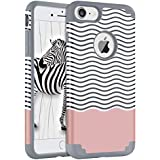 iPhone 8 Case, iPhone 7 Case, BENTOBEN Dual Layer Super Slim iPhone 8 Cover Hard Shell Soft Silicone Shockproof Bumper Chevron Wave Hybrid Protective Case Cover for iPhone 8/iPhone 7 (4.7 Inch), Grey