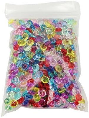Mega Shop – Cuentas de pecera, 1 paquete de 65 g, cuencos de plástico, fino, plástico transparente, para rellenar jarrones – Aqua decorativa maceta bolas de ...