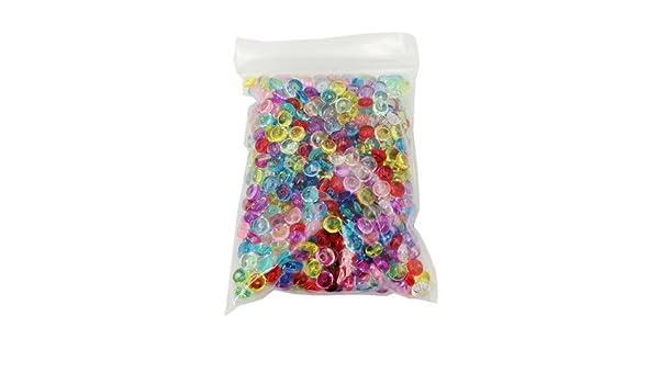 Mega Shop - Cuentas de pecera, 1 paquete de 65 g, cuencos de plástico, fino, plástico transparente, para rellenar jarrones - Aqua decorativa maceta bolas de ...