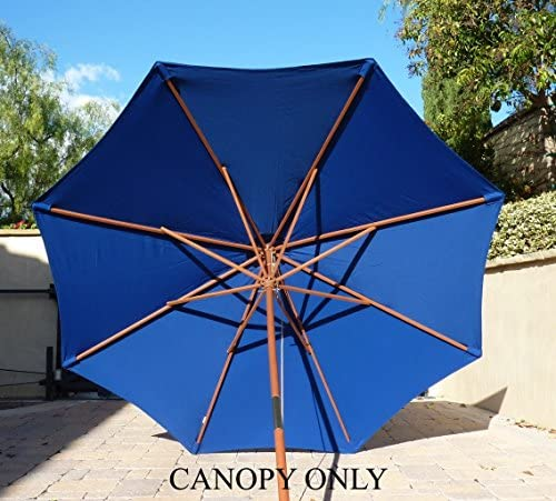Formosa Covers 9ft Umbrella Replacement Canopy 8 Ribs in Royal Blue Canopy Only