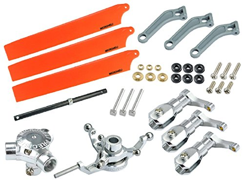 (Microheli CNC AL/Plastic Triple Orange Blade Conversion set - BLADE 200 SRX)