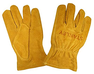 Stanley S78112 Split Cowhide Driver Glove with Keystone Thumb, Medium