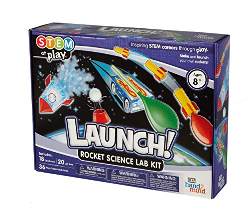 Launch! Rocket Kids Science Kits, 18 Stem Experiments & Activities, Make Your Own Rocket & Solar System, Rocket Races | Gifts for Girls & Boys, Children & Teens | STEM Authenticated - Rocketry Kit
