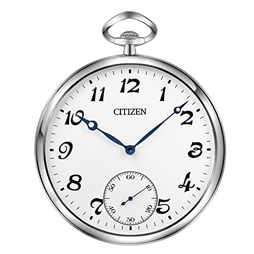 Citizen Gallery wall clock silver with blue hands CC2029
