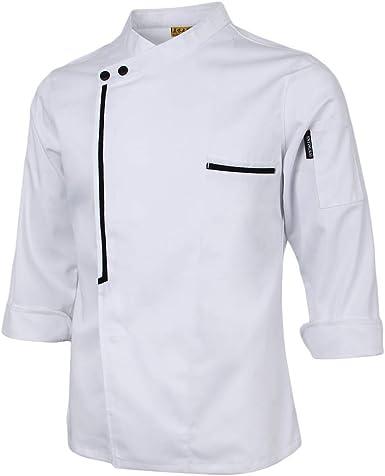 Sharplace Chaqueta de Cocinero Uniforme de Chef Camiseta de Manga Larga Transpirable Ropa para Hombre Mujer: Amazon.es: Ropa y accesorios