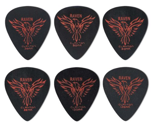 clayton-black-raven-guitar-picks-select-from-gauges-38mm-126mm