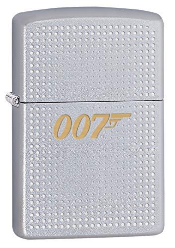 Zippo Lighter: James Bond 007 Logo, Engraved - Satin Chrome 80076