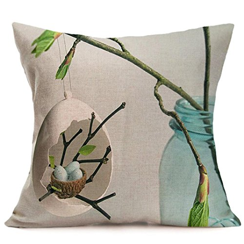 [TOOPOOT Easter Pillowcase Sofa Waist Cushion Cover Home Decor (b)] (Pillowcase Dress Costume)