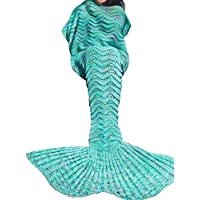 SZXKT Mermaid Tail Blanket For Kids Teens Adult Handmade...