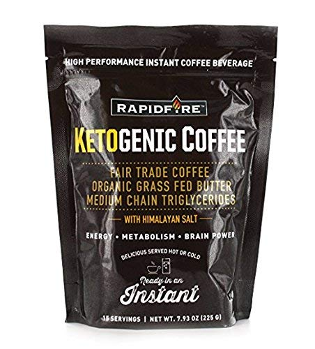 (Rapid Fire Ketogenic High Performance Instant Coffee Mix, 7.93 oz (Pack of 2))