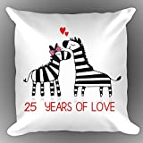 Wedding Anniversary Pillow. Best Gifts For 25th Anniversary #160;Gifts (Product Include Stuffing Pil