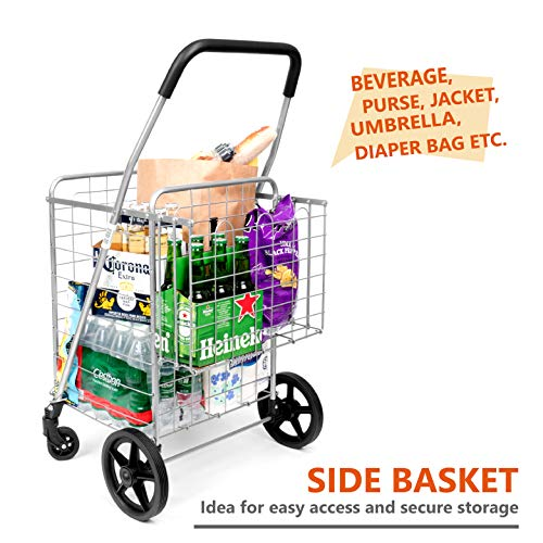 36f6c95ced52 Durable Utility Folding Shopping Cart – Supenice (SN7504) Double ...