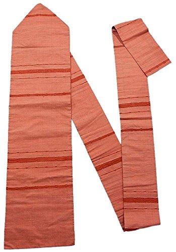 援助する暴徒反毒リサイクル 八寸 名古屋帯  紬 変わり織り 横段模様 正絹