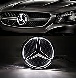 led mercedes emblem - Cszlove Car Front Grilled Star Emblem LED Illuminated Logo Center Front Badge Lamp Light for Mercedes Benz 2013-2015 A B C E R GLK ML GL CLA CLS Class - White Light