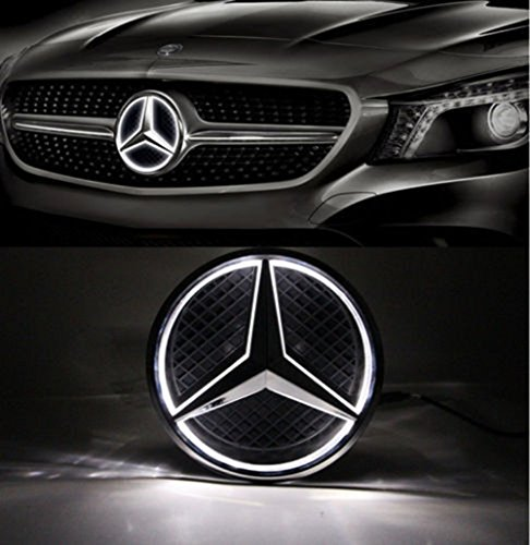 2010 Mercedes Clk Cabriolet - Cszlove Car Front Grilled Star Emblem LED Illuminated Logo for Mercedes Benz 2010-2013 A B C E S GLK ML Class Center Front Badge Lamp Light White
