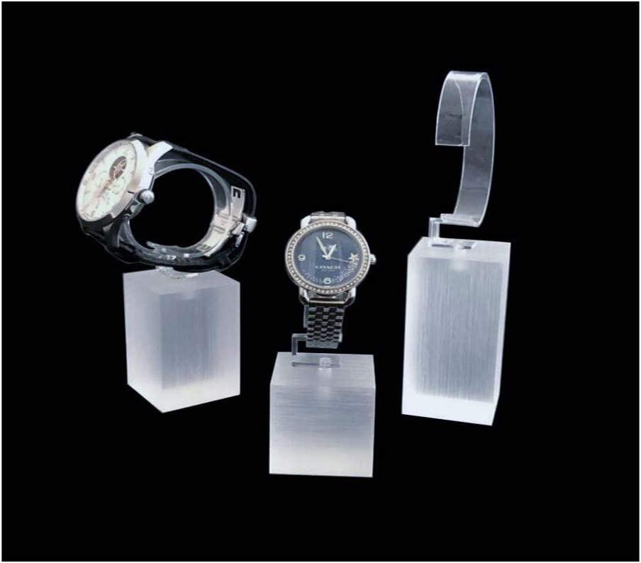 Modern Design Acrylic Watch Display Stands Riser Fine Exhibition Store Trade Show Premium Grade Material Simple Elegant Presentation Timeless Neutral Photo Prop