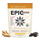 Cheap Sprout Living Epic Protein Powder, Vanilla Lucuma Flavor, Organic Plant Protein, Gluten Free, No Additives, 19 Grams Clean Vegan Protein (1 Pound,13 Servings)