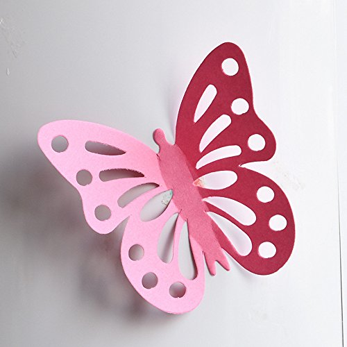 LTUISimulation 3d stereo butterfly wall stickers living room bedroom room bedside wall decorations dormitory stickers refrigerator (big) (A)