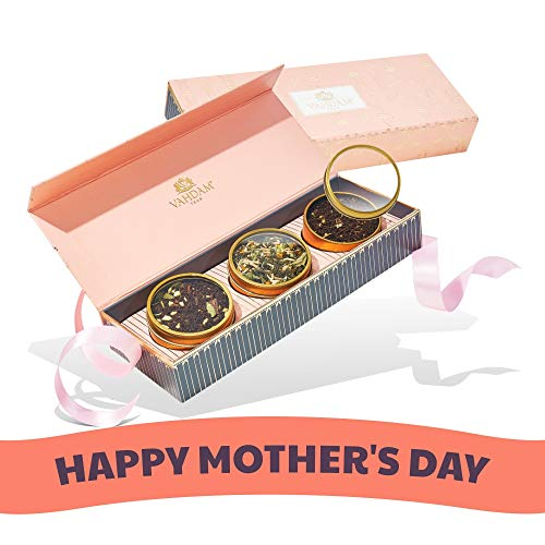 Gift Set - BLUSH - Mothers Day Gifts - 3 Exotic Teas in a Presentation Tea Sampler Gift Box | Best Mothers Day Gift Ideas & Gifts for Women ()