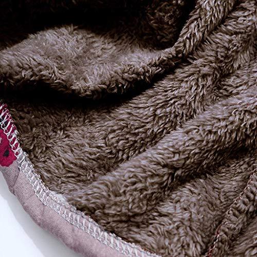 Luckycat Womens Winter Warm Outwear con Estampado Floral Bolsillos con Capucha Abrigos de Gran tamaño Vintage: Amazon.es: Ropa y accesorios