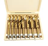 9TRADING INDUSTRIAL 8PC SILVER & DEMING DEMMING JUMBO DRILL BIT SET 9/16''- 1'' WITH CASE,Free Tax,Delivered within 10 days