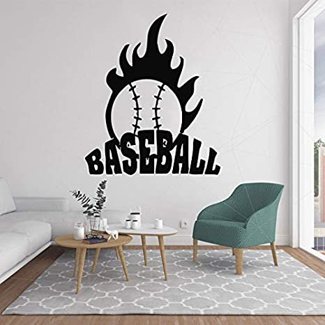 Ajcwhml Bola de béisbol de béisbol calcomanía de Pared Mordern Vinilo Pegatinas para Sala de Estar decoración extraíble Wall Art Decor Home Nursery Decor 87x72cm: Amazon.es: Hogar