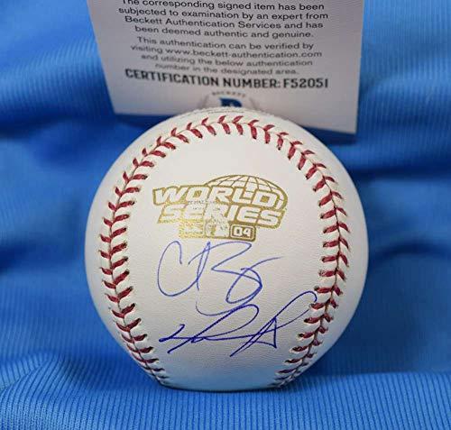 (DAVID ORTIZ CURT SCHILLING Steiner BAS Coa Autograph 2004 World Series Signed Baseball)