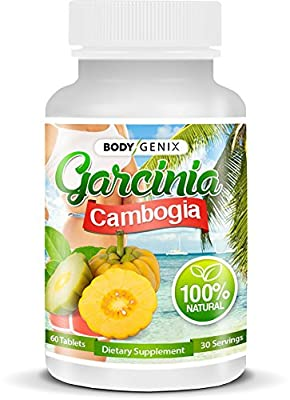 BODYGENIX 80% HCA Garcinia Cambogia Weight Loss Supplement, Diet Pills, For Men, For Women, 100% Natural