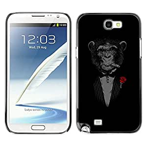 Hot Style Cell Phone PC Hard Case Cover // M00100878 chimpanzee cigars rose art // Samsung Galaxy Note 2 II N7100